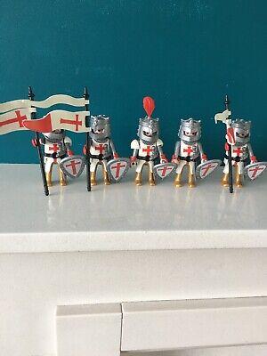 Crusader Knights Templar Playmobil Special 4670 X 5 Figures Joblot Bundle Castle