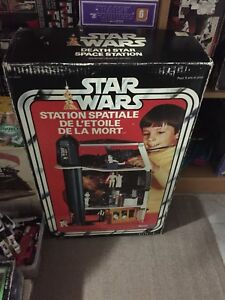 Vintage Star Wars rare Canadian Death Star with box