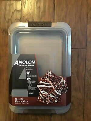 NEW Anolon Advanced Bronze Nonstick Covered Cake Pan