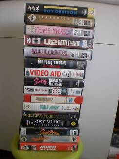 MUSIC VIDEOS VHS TAPES --  VINTAGE 1970, 1980, 1990