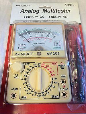 Bel Merit Am202 Analog Multimeter - 20kv Dv - 9kv Ac