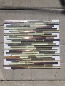 Mosaic Wall Tile - new - copper/beige/brown/stone