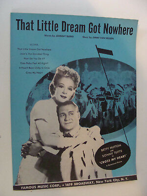 That Little Dream Got Nowhere 1946 from Cross My Heart Betty Hutton Sonny Tufts