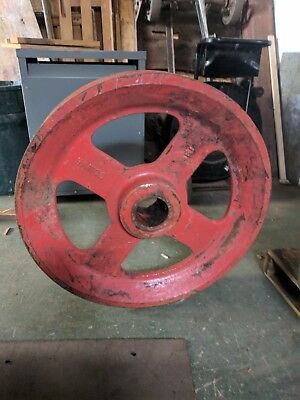 33 Wire Rope Sheave Pulley Hawco Bucket Crane Table Base Steampunk
