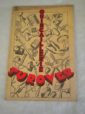 vintage Catalogue 1935 Turover Rubber hardware products french