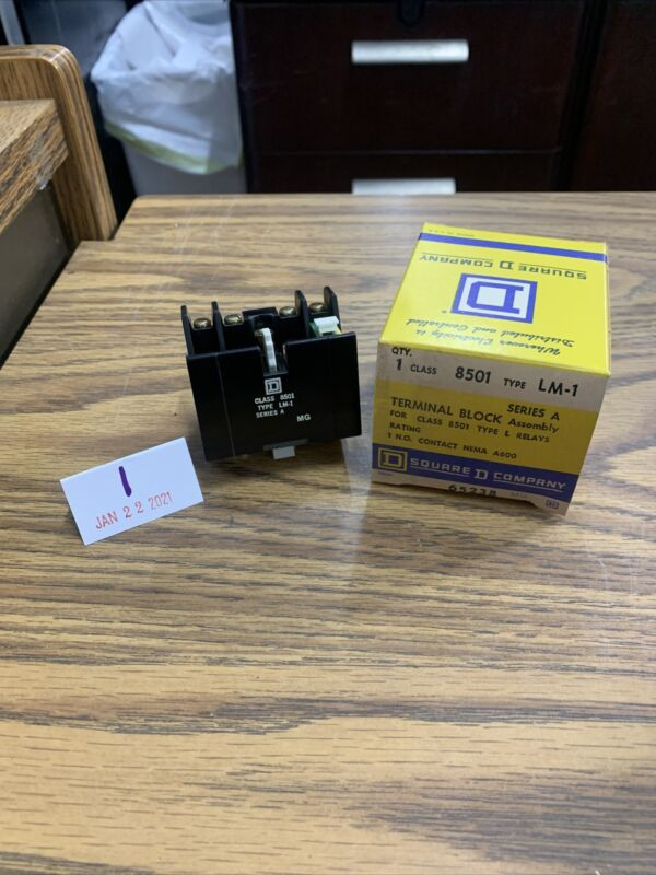 New Square D 8501 LM-1 Terminal Block Assembly for 8501 Relays