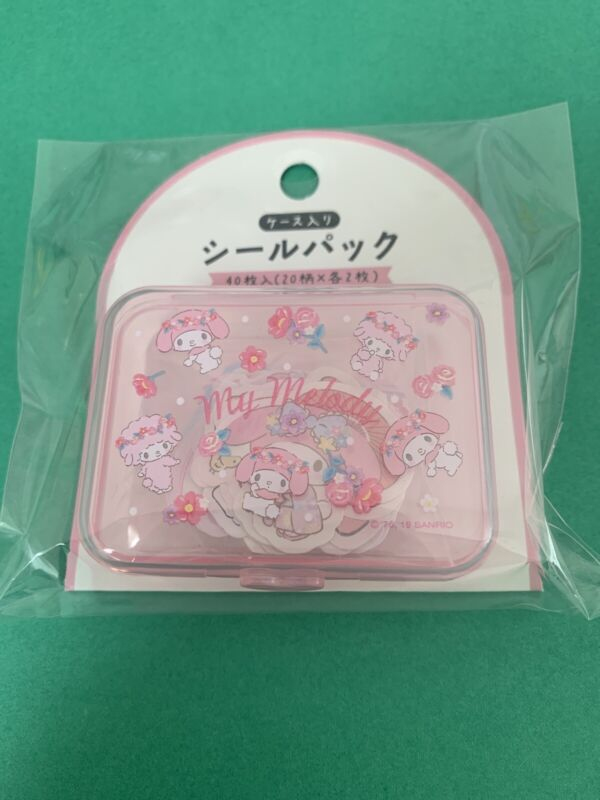 Sanrio Japan: My Melody Stickers With Plastic Case: Version 1 (B4)
