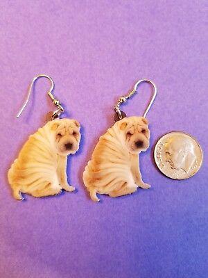 Shar Pei Jewelry (Chinese Shar Pei Dog  lightweight fun earrings  jewelry FREE)