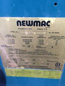 Newmac wood/oil combination furnace