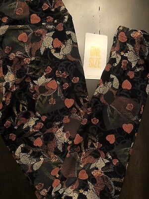LuLaRoe OS Leggings DISNEY Villain Queen Of Hearts Alice In Wonderland Roses!