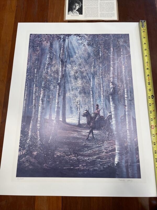 "Roberta Wesley print native american indian art 1980 42/1000 24""x19"""