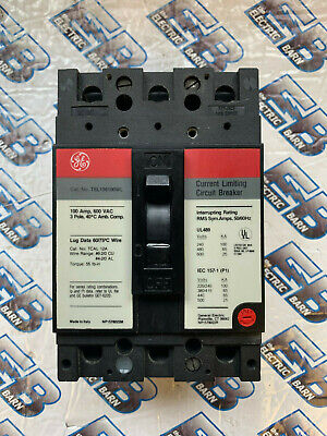 Ge Tel136100 100 Amp 600 Volt 3 Pole Circuit Breaker- Warranty