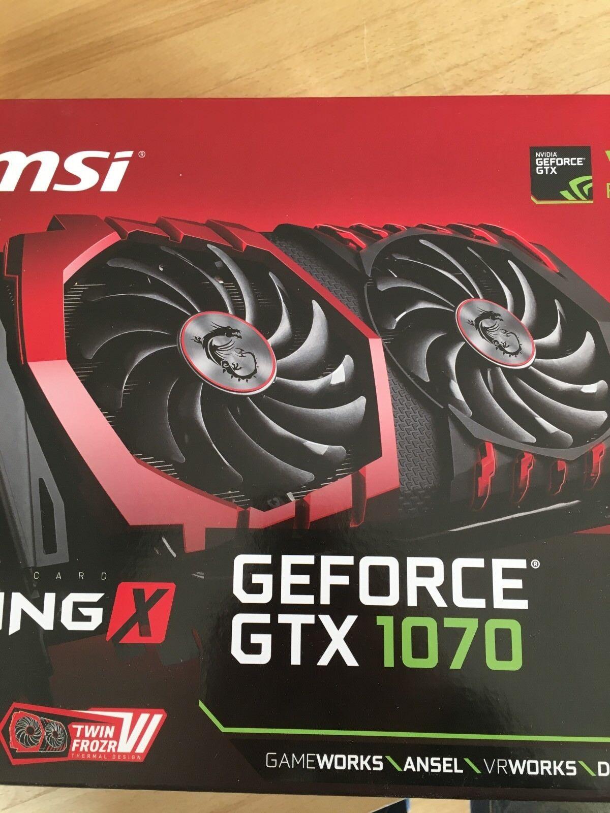 NVIDIA GeForce GTX 1070 (8GB) Grafikkarte wie NEU Kauf 01/2018