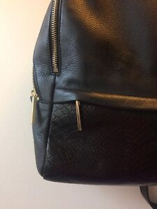 Beautiful black leather Danier backpack with tablet pocket