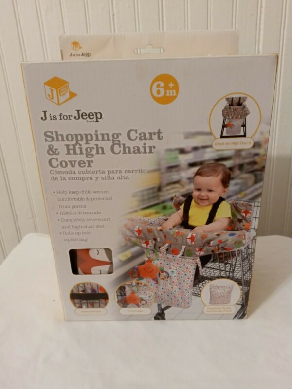 J Is For Jeep 2-in-1 Shopping Grocery Cart Cover High Chair Cushion Baby Infant