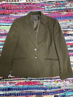 Kasper Pant Suit Size 12p Olive Green