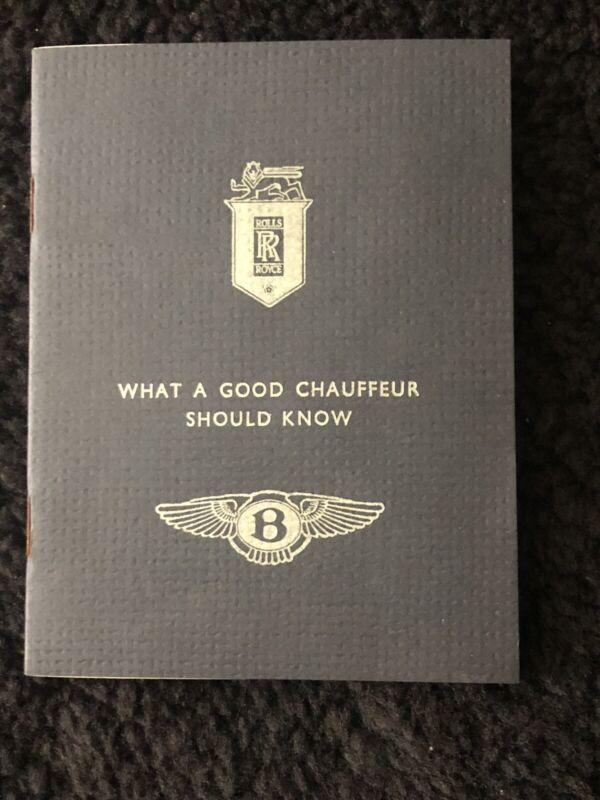 Rolls-Royce Owners Club RROC What A Good Chauffeur Should Know Handbook 1977