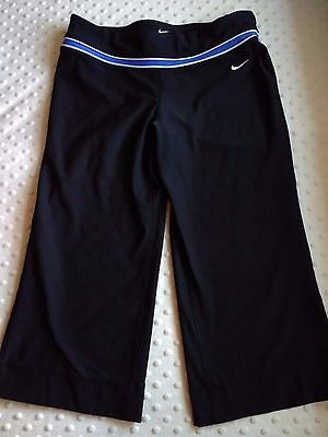 Nike Women's Athletic shorts, Black, Size Small, cropped, running, biking, yoga