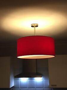 Red Round Drum Light Currans Hill Camden Area Preview