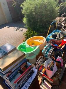 Free adult and kids books and toys etc