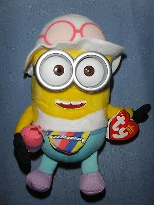 Minion Despicable Me 3 - Ty Beanie Baby *Jerry in Tourist Outfit* Stuffed Toy - Despicable Me Minion Outfit