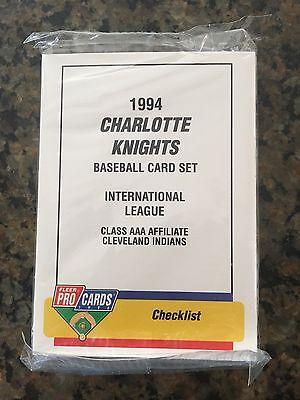 Charlotte Baseball - 1994 ProCards Charlotte Knights BASEBALL TEAM SET Cleveland Indians
