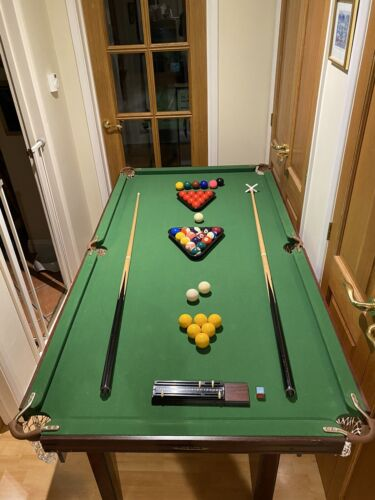SNOOKER TABLE 6ft x 3ft and TABLE TENNIS 6ft x 3ft