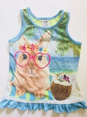 Bunny Pajamas For Kids (Children Toddler Girls Kids Pajamas Tank Top Sleepwear XS 4/5 Blue Bunny)