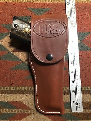 FITS Colt 45 Govt Model 1911 Tanned Leather Flap Field Holster