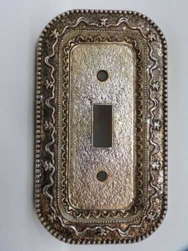 Vintage ornate metal wall light switch decorative cover plate   433a