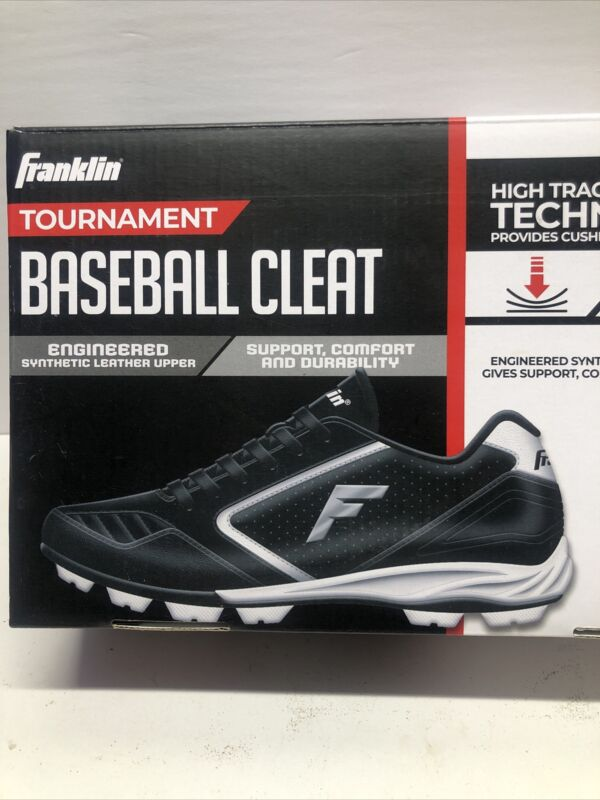 Franklin Tournament Baseball Cleat Boys Shoes Youth Size 1 Sports