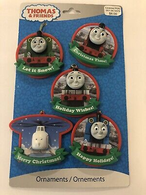 Thomas & Friends Set Of 5 Christmas Ornaments By American Greetings