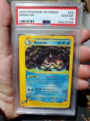 Pokemon Skyridge Omastar PSA 10 Gem Mint Rare card #23
