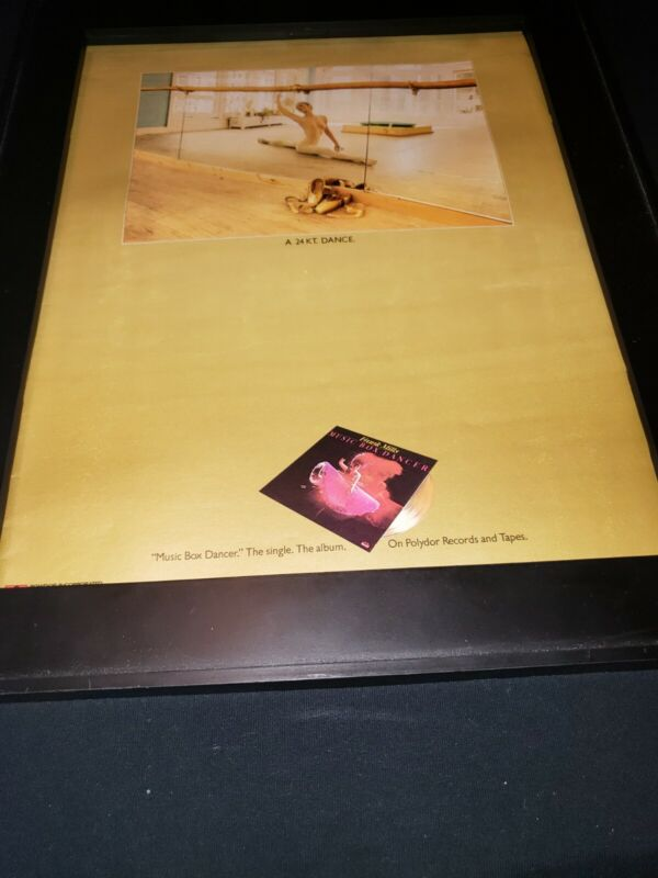 Frank Miller Music Box Dancer Rare Original Promo Poster Ad Framed!