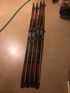 Good condition 2x pairs of cross country skis