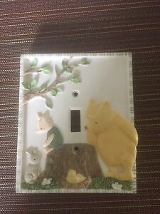 Whinnies the pooh porcelain light switch cover