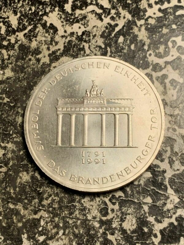 1991-A Germany 10 Mark Lot#Q8430 Silver! High Grade! Beautiful!