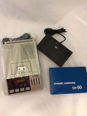 Sony Bm805 Microcassette Transcriber With Footpedal And New Headset
