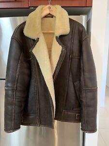 English Sheepskin flying jacket XL