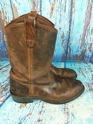 Double-H 2624 Brown Leahter Pull On Steel Toe Work Boots Men's Size: 10.5 D