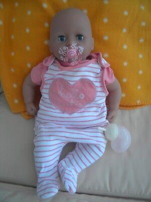 Zapf Baby Annabell Babypuppe Geräusche Saugfunktion Schnuller Flasche 46 cm TOP