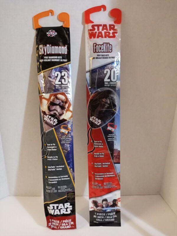 """X Kites Star Wars • 23"""" Tall Storm Trooper & 20"""" Tall Darth Vader Kites  **NEW**"""