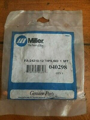Miller 040298 Fa-24210-12 Tips No 1 Mt Spot Welding Qty.1
