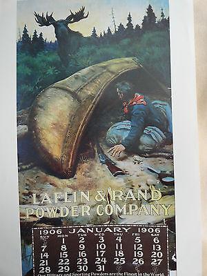Laflin & Rand Powdrer Company 1906 Calendar Poster Only No Pad Philip R Goodwin?
