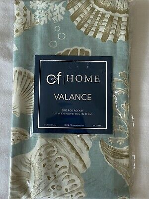 C and F Home Window Valance Natural Shell beach seashells 15.5x72 new in pkg