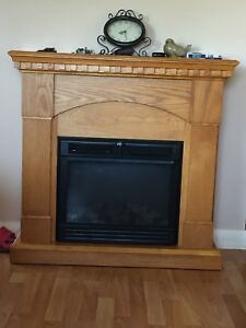 Twin Star Electric Teal Flame Fireplace