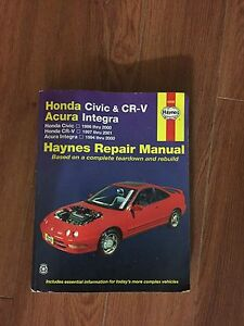 Honda civic/ integra/ crv haynes manual