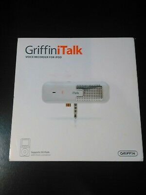 Griffin iTalk Voice Recorder For iPod PN 4020- Talk Pre-Owned In Original Box