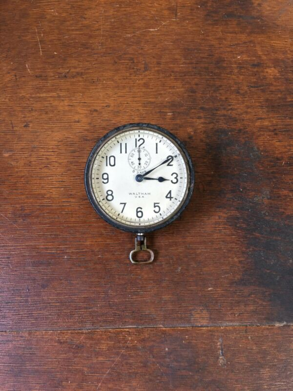 1920's Waltham Watch Co. 8 Day Car Clock NON-Working Condition