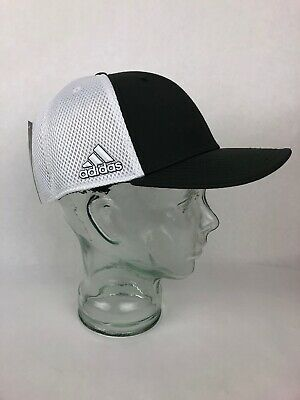 RARE COLOR Adidas Golf A Stretch Tour Hat L/XL WHITE & Dark GRAY Grey - FSTSHP Adidas Stretch Hat
